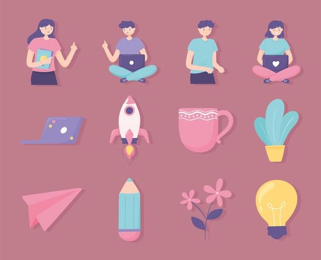 People-startup-set