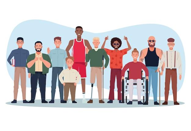 Perfekt unvollkommene personen gruppieren charaktere