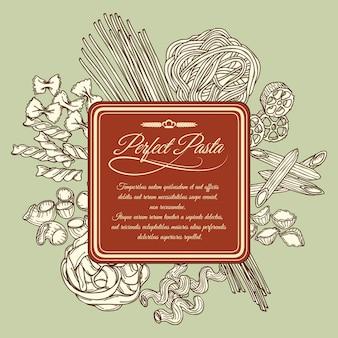 Perfekte pasta label vorlage