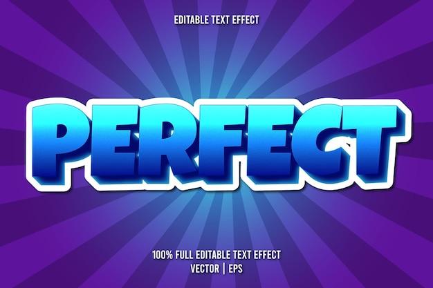 Perfekter editierbarer texteffekt-comic-stil