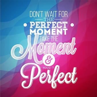 Perfektes momentzitathintergrund