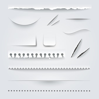 Perforiertes papierset