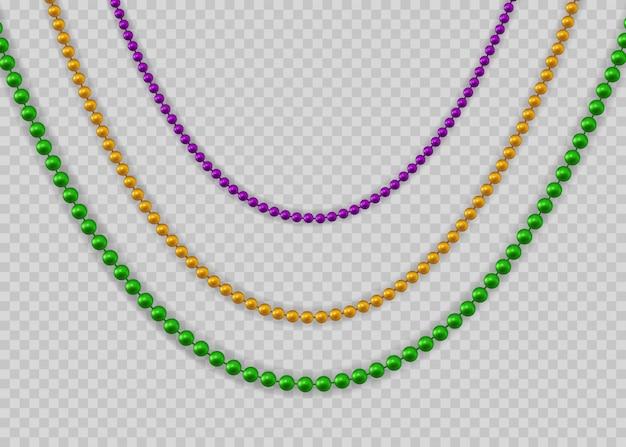 Perlen für karneval für dekorationskonzept.