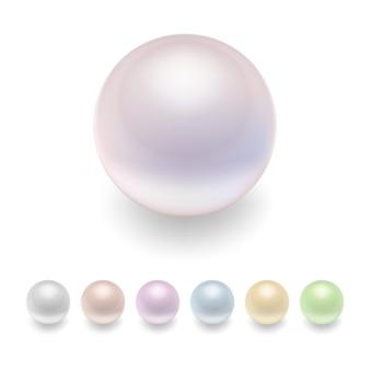 Perlen gesetzt