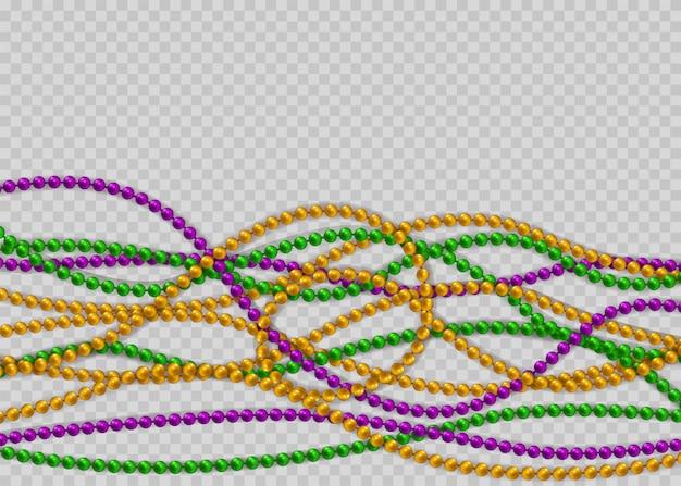 Perlen in traditionellen farben. dekorative glänzende realistische elemente