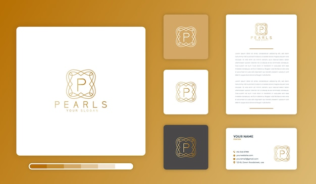 Perlen logo design vorlage