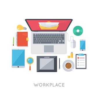 Persönliche arbeitsplatzorganisation