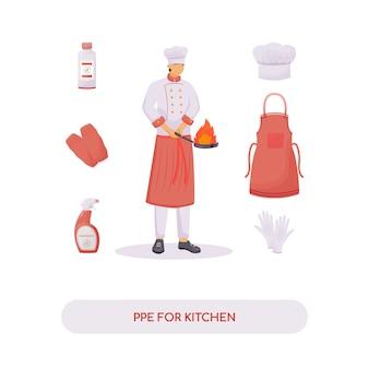 Persönliche ausrüstung für die küche