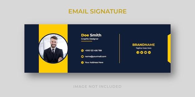 Persönliche e-mail-signaturvorlage