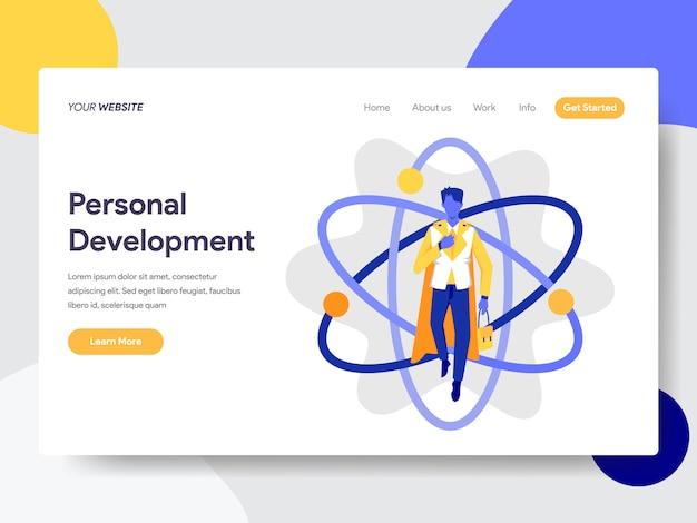 Persönliche entwicklung für die webseite