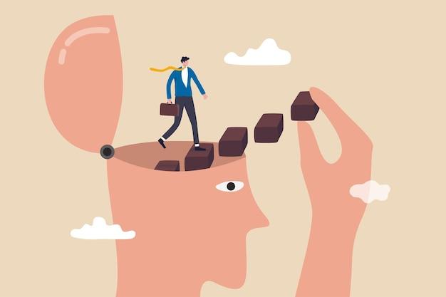 Persönliche entwicklung, selbstverbesserung oder motivation, das volle potenzial zu aktivieren.