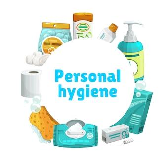 Persönliche hygiene und pflege, banner