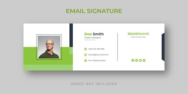 Persönliche minimale e-mail-signaturvorlage
