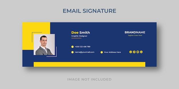 Persönliche minimalistische e-mail-signaturvorlage