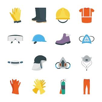 Persönliche schutzausrüstung symbole