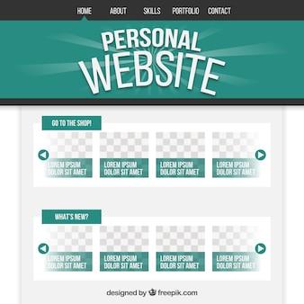 Persönliche website in grüner farbe