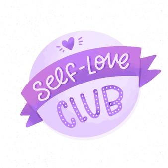Persönlicher liebesclub selbstliebesbeschriftung