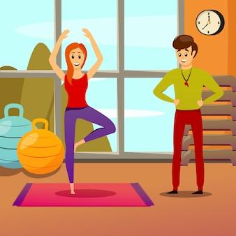 Persönlicher yogalehrer