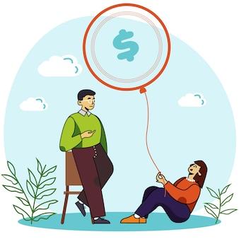 Persönliches geschäftsseminar und finanztraining
