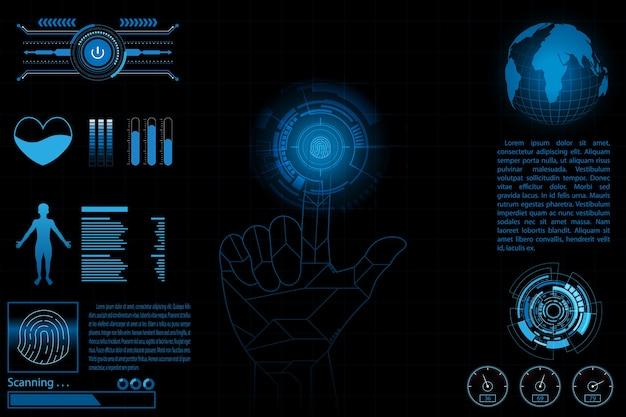 Persönliches konzept der fingerabdruck-scan-informationen