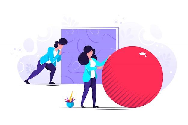 Person laufen illustration