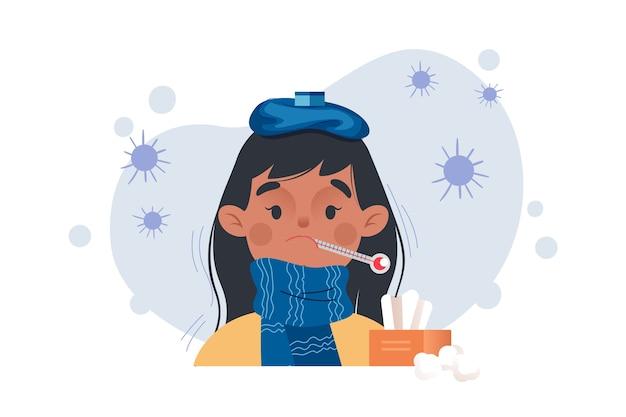 Person mit erkältung