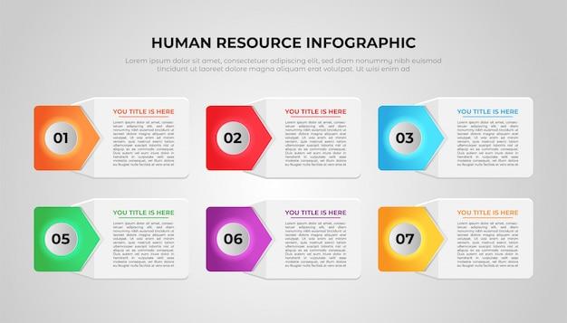 Personal infografik vorlage design