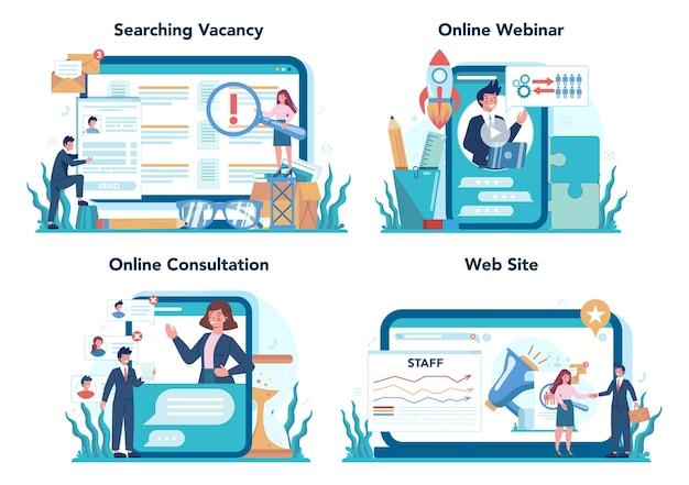 Personal-onlinedienst oder plattformset
