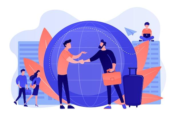 Personalagentur für migranten. hilfe hub