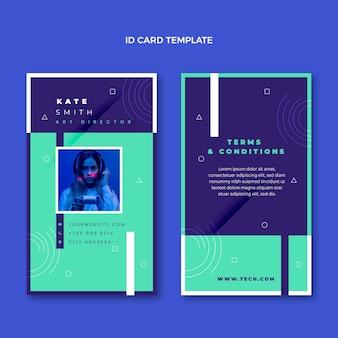 Personalausweis mit flachem design und minimaler technologie