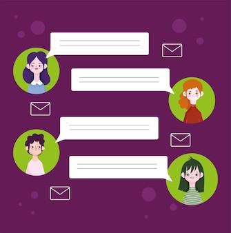 Personen-avatar-messaging