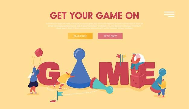 Personen charaktere, die brett- oder tischspiele für webdesign, mobile app, zielseite spielen. freizeitbeschäftigung für freunde oder familienmitglieder, geschäftsstrategie und glücksspielkonzept.