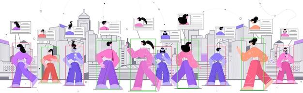 Personen, die smartphones zur überprüfung der gesichtsidentität verwenden