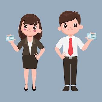 Personen mit nationalem personalausweis bevölkerungszeichenillustration