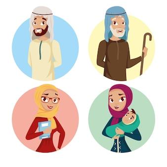 Personen muslimische kultur