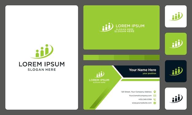 Personen- oder teamlogo mit investitionsleiste. visitenkarte.