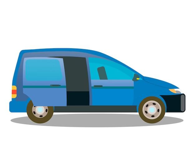 Personenwagen, lastwagen-auto-flache farbillustration
