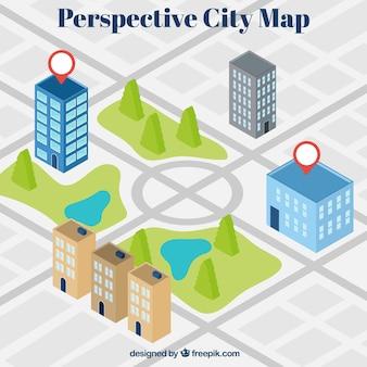 Perspektive stadtplan hintergrund