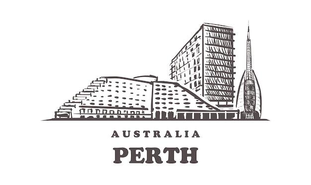 Perth skyline, australien