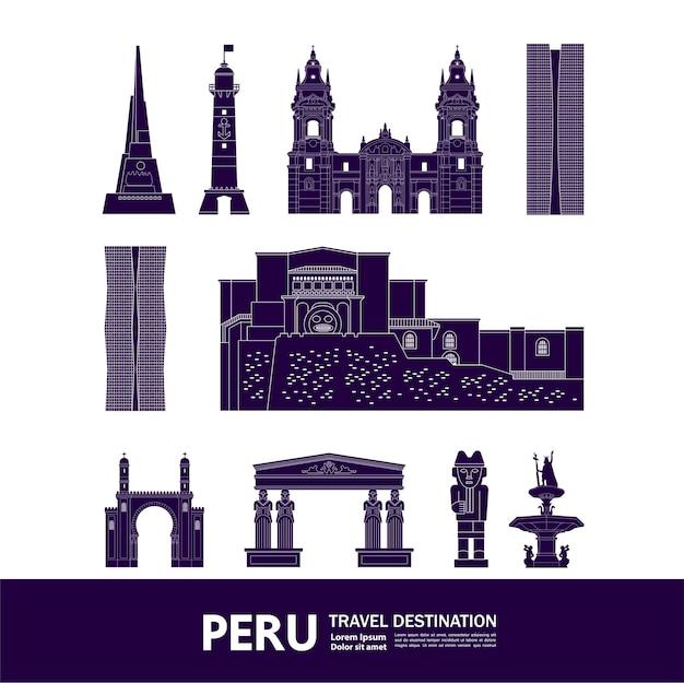 Peru reiseziel vektor-illustration.