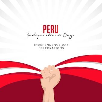 Peru unabhängigkeitstag peru nationalfeiertag feiern banner designvorlage