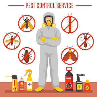Pest control service illustration