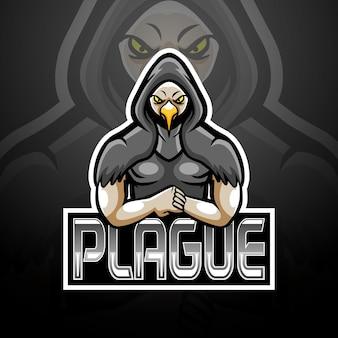Pest-esport-logo-maskottchen-design