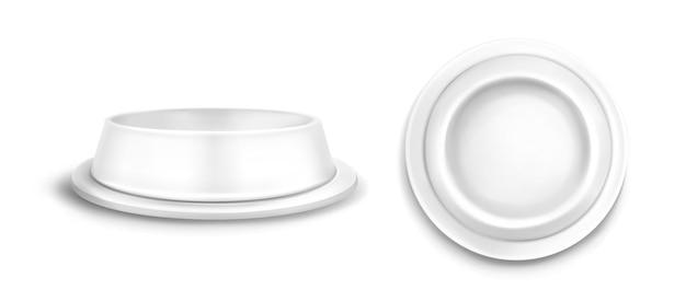 Pet bowl modell vorder- und draufsicht.