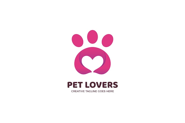 Pet lover community logo vorlage