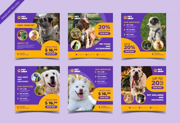Pet shop instagram post vorlage