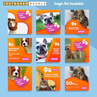 Pet shop instagram postvorlage