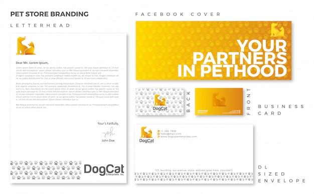 Pet store branding-vorlage