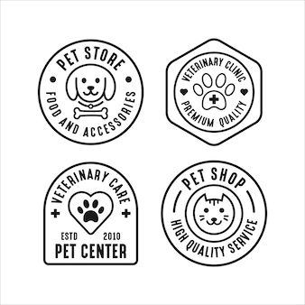 Pet store set logo sammlung