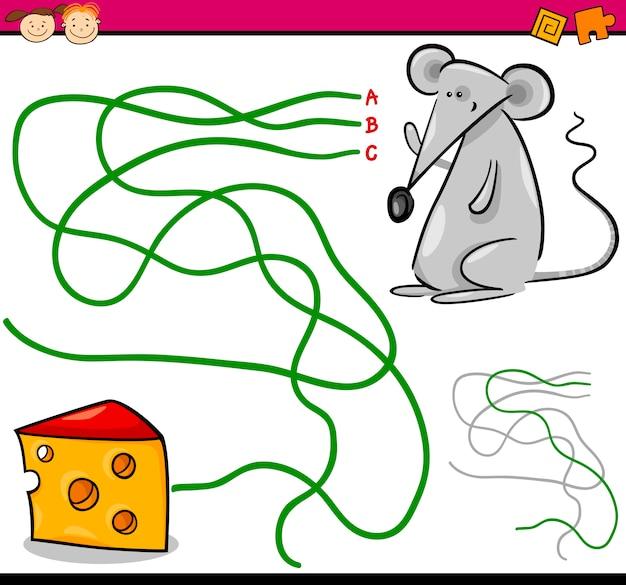 Pfad oder labyrinth cartoon-spiel